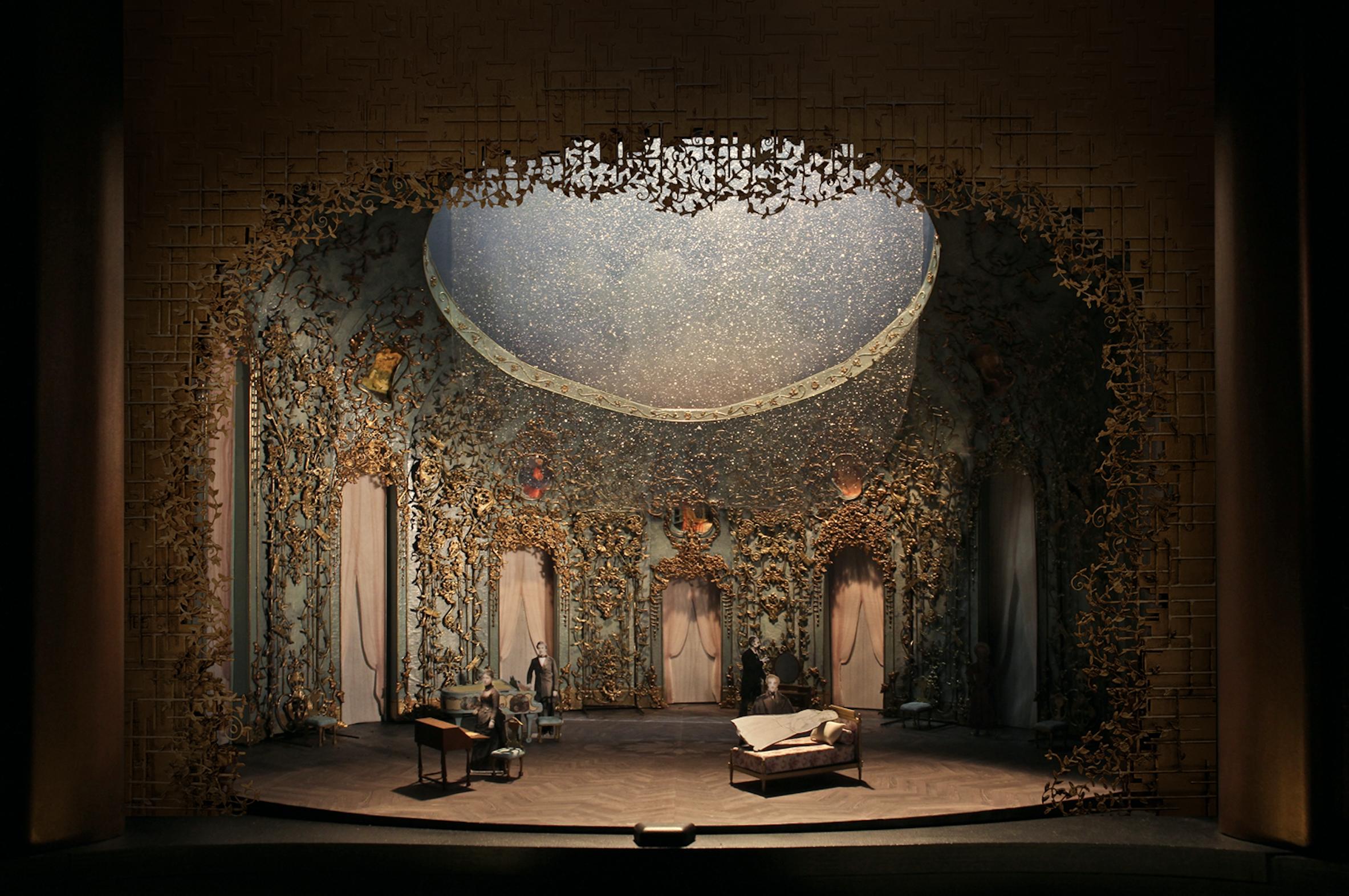 La Traviata - maquette des décors