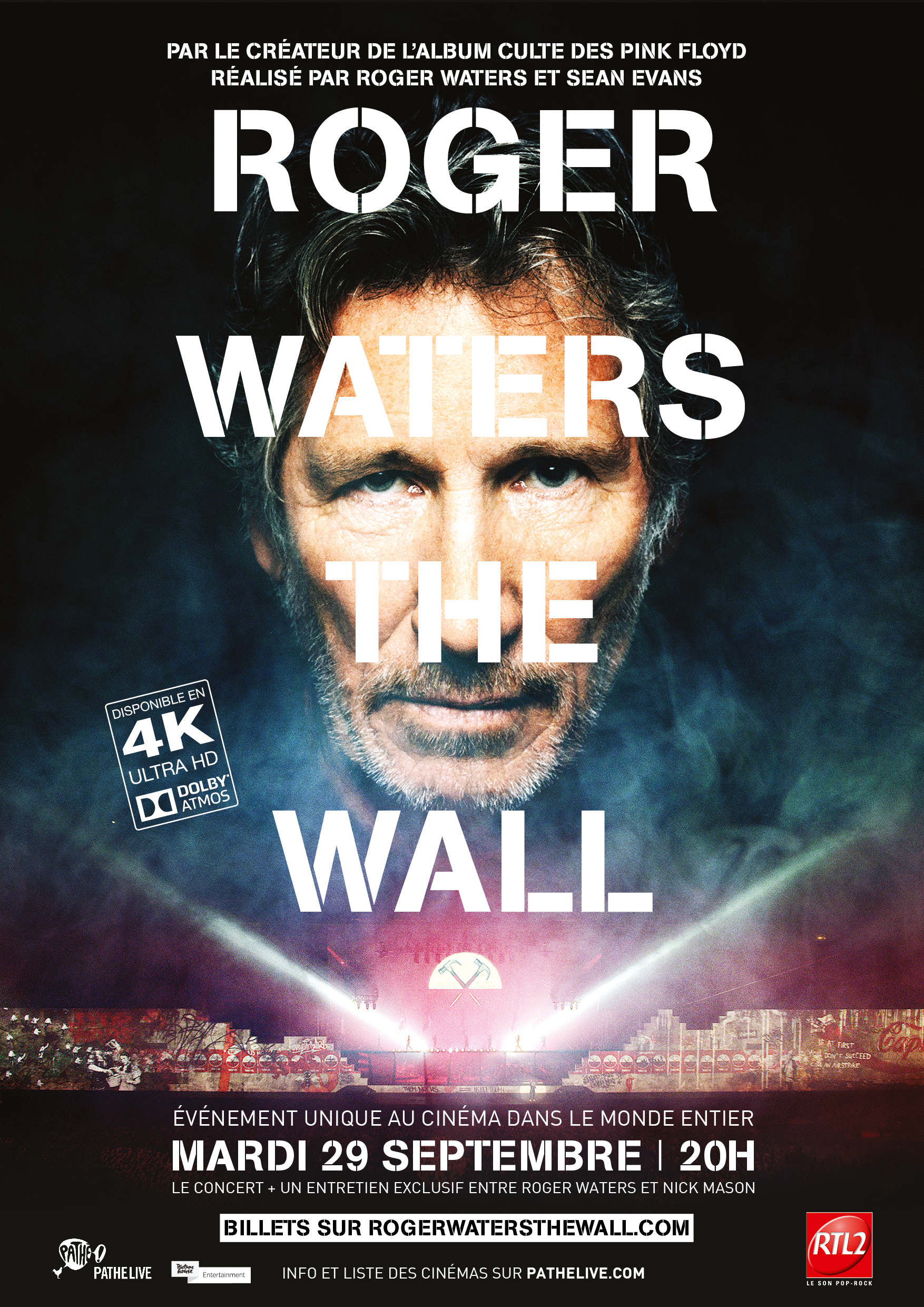 Roger Waters The Wall - Affiche cinema